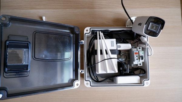 Автономный комплект видеонаблюдения и wi-fi.